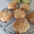 いちご・抹茶のカメのメロンパン