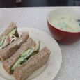 胚芽パンサンドイッチ&クリームシチュー