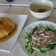 天津飯&棒棒鶏&中華コーンスープ