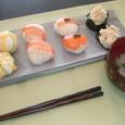 手まり寿司&あさりの潮汁